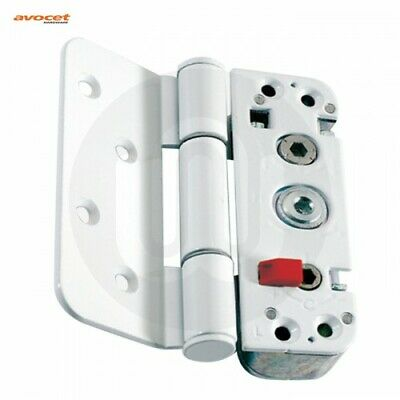 Avocet Affinity Adjustable 3D Upvc Composite Door Hinge - White