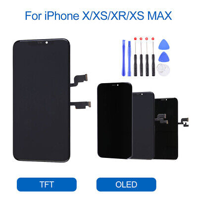 For iPhone X XR XS XS Max OLED LCD Display Touch Screen Digitizer Replacement