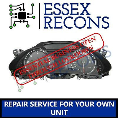 AUDI A4 B8 INSTRUMENT CLUSTER SPEEDO CLOCKS REPAIR SERVICE.