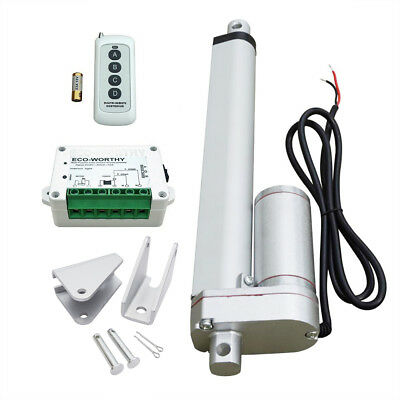 "12"" 12V Linear Actuator 330lbs + Wireless Control Kit for Door Open, Auto,Car"