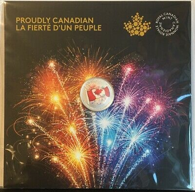 1867-2017 Canada 150 Glow-In-Dark Proudly Canadian Flag Fireworks $5 Silver Coin
