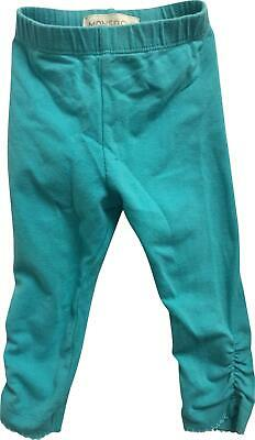PRE-OWNED Girls Monsoon Blue Crunch Legging Trousers Size 3-6 Months