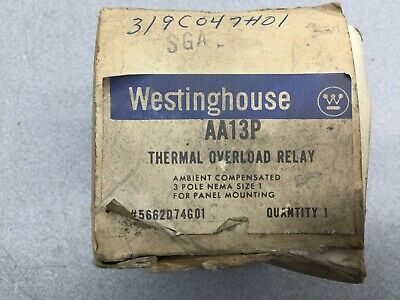 New In Box Westinghouse 3Pole Thermal Overload Relay Aa13P