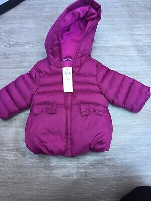 M&Co 0-3 Months Baby Girls Coat Fleece Lined
