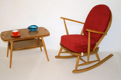 Vintage Retro Ercol Rocking Chair-fully restored.Choice of fabrics. 2 available