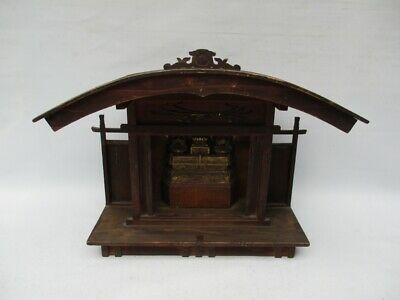 Japanese Antique Very Old Buddhist Alter Miniature Shrine