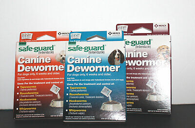 Safe-Guard Fenbendazole Canine De-wormer Various Sizes 1,2,4gram