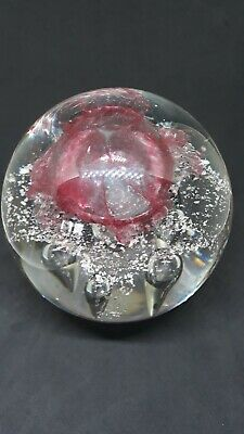 Large jelly fish pattern glass Paperweight