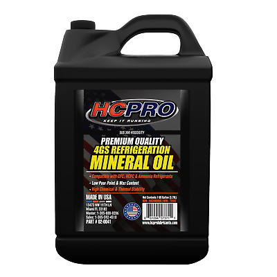 HCPRO 4G Premium Refrigeration Mineral Oil - 1 Gallon / 4 liters / 128 Oz