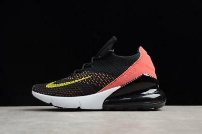 d66a25312b Women's Nike Air Max 270 Flyknit Shoes !! Black/Yellow Strike Ah6803 003 5
