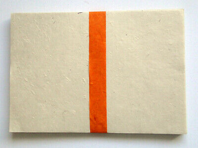 A4 Lokta Computer Paper Naturally Dyed eco paper 20 Sheets Orange