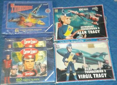 1993 *** Collection Of 5 Jigsaw Puzzles *** Thunderbirds Captain Scarlet