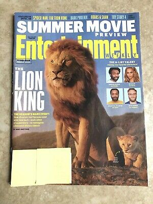 Entertainment Weekly~SUMMER MOVIES: THE LION KING Glover, Beyonce ~May 2019