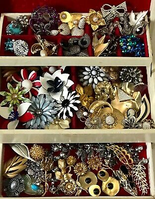 Nice Jewelry Lot ALL GOOD NO JUNK Vintage 5 Pc Earring Brooch Necklace Etc.