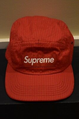 bfa44d43 SUPREME NEW YORK Overdyed Ripstop Camp Cap Hat BLUE Adjustable NEW F ...