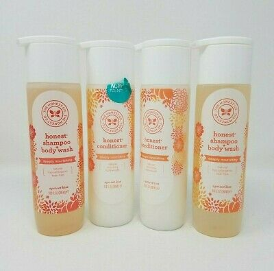 The Honest Co Honest Shampoo + Body Wash And Conditioner Apricot Kiss Lot Of 4