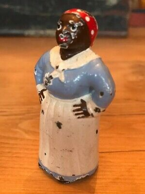 Antique Hubley Pa Usa Black Mammy Cast Iron Toy Art Statue Paperweight
