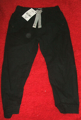 BNWT Boys 2-3 Years NEXT Black Pull On Elasticated Waist Trousers