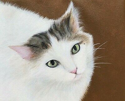 "Custom Pet Portrait 8""x10"" acrylic painting of YOUR dog/cat on stretched canvas"