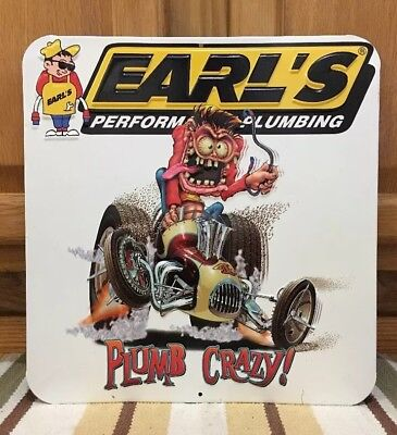 Earls Performance Plumbing Crazy Metal Bar Man Cave Bathroom Decor Garage Barn