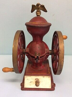 John Wright Double Wheel Coffee Mill 12.25""