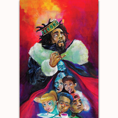 "J Cole K.O.D Album Cover Poster 2018 New KOD HQ Art Print 21×14/"" 27/""×40/"" 48/""×32/"""