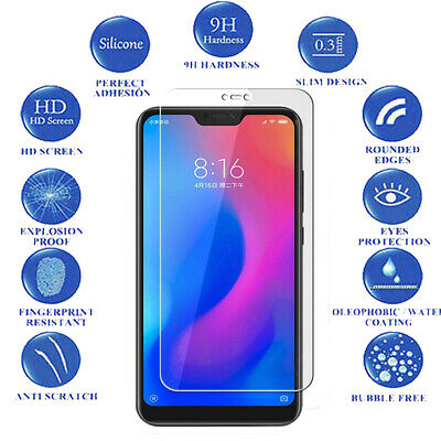 9H Tempered Glass Guard For Xiaomi Mi A2 Lite Clear LCD Screen Protector 3-Pack