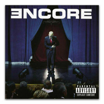 E-87 Eminem ENCORE Rapper Hip Hop Music Cover Album Fabric Poster Print