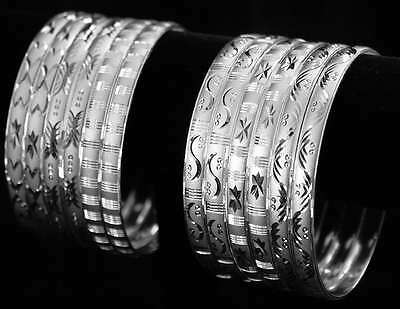 Baby Girls silver Bangle Bracelet Diamond Cut  9 -24Month 1 only