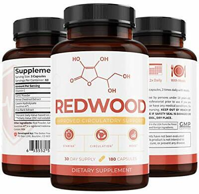 UMZU: Redwood: 100% Natural Nitric Oxide (30-Day Supply) - Treat Varicose Veins