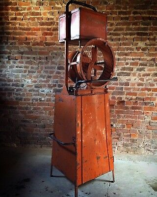 Industrial Factory Fan Early 20th Century Loft Style Distressed Stunning Large