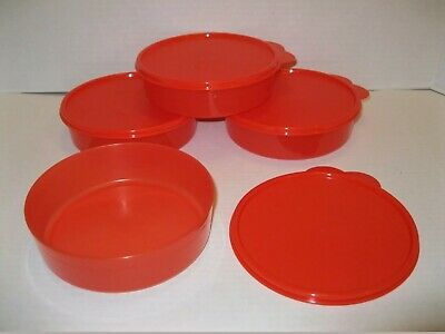 TUPPERWARE Big Wonders Bowl Set 3 CUPS Set of 4 BPA FREE Free US Shipping