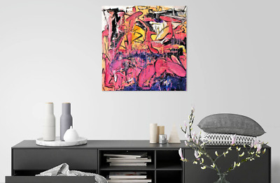 The Whale Garden SQUARE - Abstract Painting on Canvas Art Print from Paris 24X24