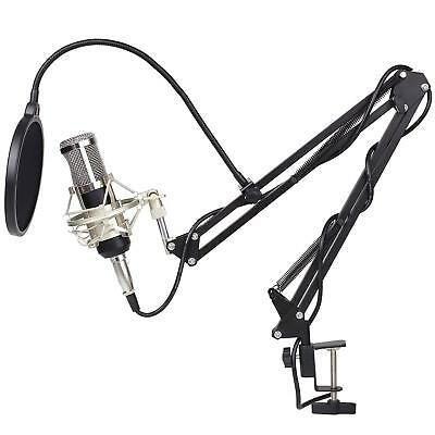 High Quality Audio Vocal Studio Condenser Microphone Mic with Shock Mount - UK