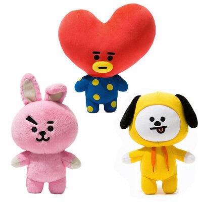 2018 New KPOP BTS Plush Toy BT21 CHIMMY COOKY TATA Standing Doll Toy-Gift 12...
