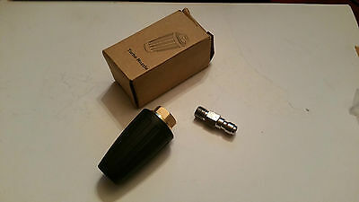 Brand New 025 Pressure Jet Wash Turbo Rotating Nozzle + Quick Release Coupling