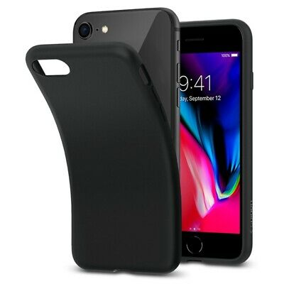 Matte Case For iPhone 7 Shockproof Slim Ultra Thin TPU Solf Silicone Cover Black