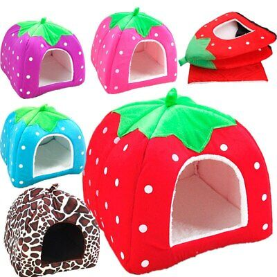 Kennel Pet House Soft Beds Cave Puppy Dog Cat Bed Doggy Warm Cushion Washable AU