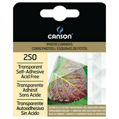 Canson / Pacon Papers 100510368 Photo Corners Self Adhesive Transparent 250 Pack