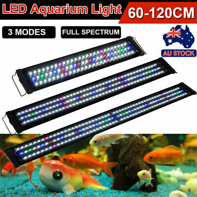60 90 120cm Full Spectrum Aquarium LED Light Lighting Aqua Plant Fish Tank Lamp