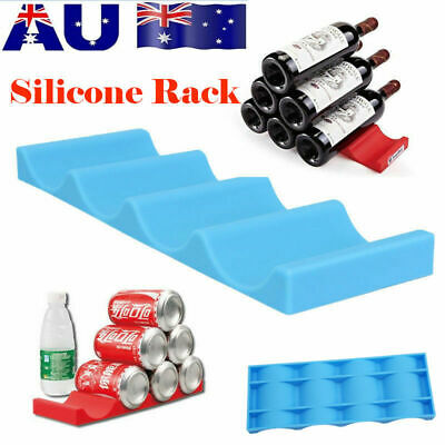 Silicone Fridge Can Beer Wine Bottle Rack Holder Stacking Mat Home Bar Supplies