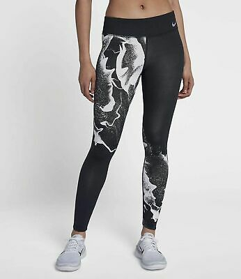 f23720eb2f8a9 2018 NIKE SPEED Women's Running Tights AQ3355-010 Printed Black Grey ...