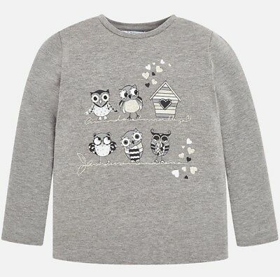 New Girls Mayoral Long Sleeved Printed T-Shirt , Age 2 Years, (4070)