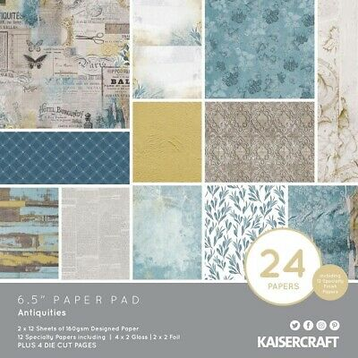 "Kaisercraft 'ANTIQUITIES' 6.5"" Paper Pad Vintage/Men's KAISER PP1067"