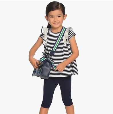 New Girls Mayoral Striped T-Shirt And Leggings Set , Age 2 Years , (3706)