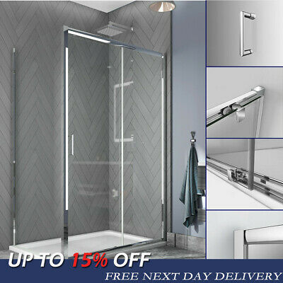 Shower Enclosure And Tray Sliding Door Cubicle Side Panel 6mm NANO Glass Screen