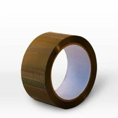 Brown Acrylic Parcel Packing Packaging Tape Sellotape Carton Sealing 48Mm X 66M