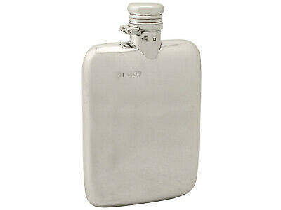 Antique Victorian Sterling Silver Hip Flask