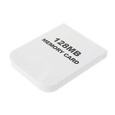 1X(128MB Memory Card for Nintendo Wii Gamecube GC Game White L2U8)