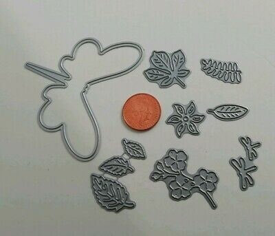 Job Lot Bundle 8 Tattered Lace Dragonfly Flowers Leaves Mini Cutting Dies